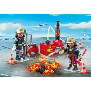 PLAYMOBIL®Firefighting Operation with Water Pump