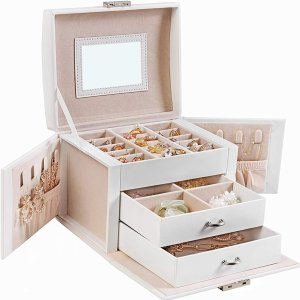 SONGMICS Jewelry Box, Travel Jewelry Case