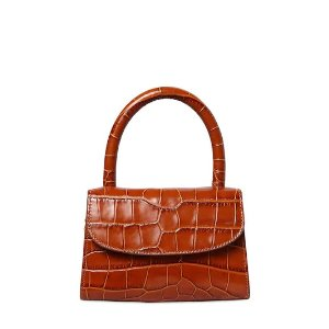by FARMINI CROC EMBOSSED LEATHER BAG