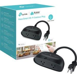 黑五预告:TP-Link Kasa KP400 智能 WiFi 户外用2接口插线板