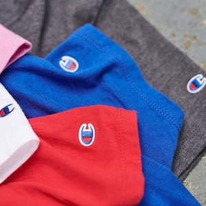 3折起 logoT恤仅£14Champion 精选潮衣超低价收 男女经典款都有