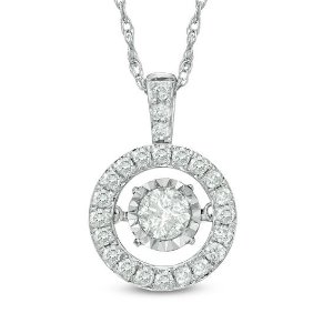 Unstoppable Love™ 1/8 CT. T.W. Diamond Frame Pendant in Sterling Silver|Zales