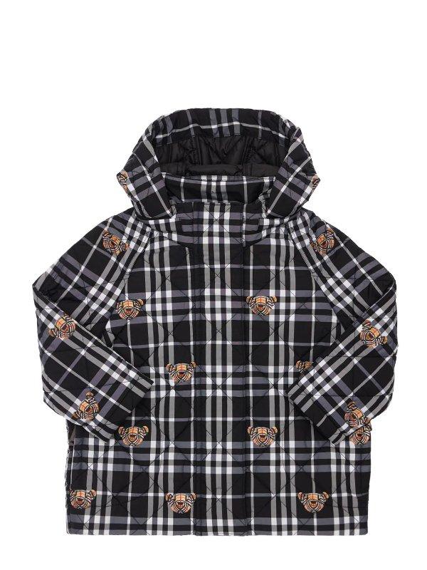 小熊格纹外套