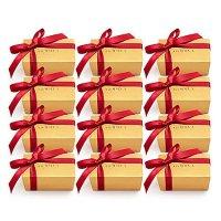 2粒装红丝带小包装礼盒巧克力*12盒