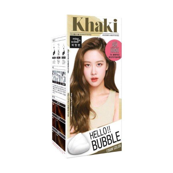 韩国MISE EN SCENE爱茉莉 HELLO BUBBLE泡沫染发剂 卡其色 单组入 - 亚米网