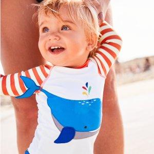 7.5折 做泳池里最萌di娃限今天:Mini Boden官网 儿童防晒泳衣、沙滩服饰一日闪购