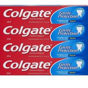 $3.98(原价$5.57)Colgate 高露洁 Cavity 防蛀齿牙膏4支装 全家可用 白菜价囤货