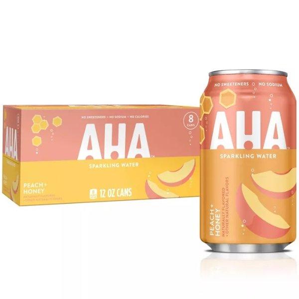 桃子+蜂蜜口味无糖气泡水 8罐装