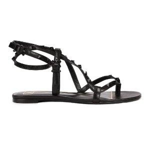 Valentino黑色铆钉凉鞋