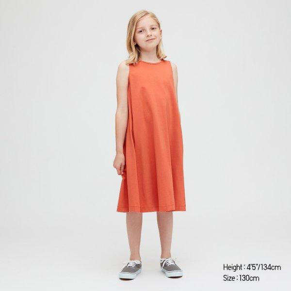 女童森系棉质连身裙