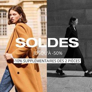 5折起+满2件额外9折法国打折季2021:CLAUDIE PIERLOT 私卖开启 收法风美衣