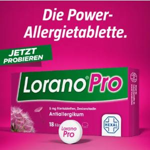 7.5折!18片装仅€7.81Lorano Pro 超有效的抗敏药 快速有效缓解花粉过敏症状