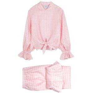 Rumba ruffle-trimmed linen pyjama set