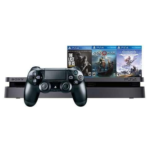 PS4 Slim 1TB 套装,再送三款游戏