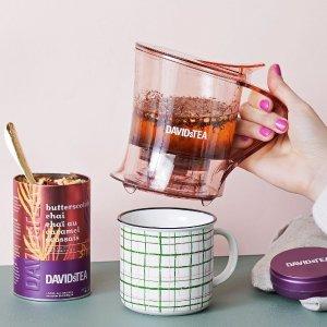 全场$1起+送茶罐震撼低价:DAVIDsTEA 散茶折上折 花/果茶$1.72 蓝莓乌龙$2