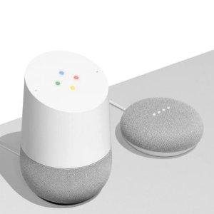 最高直降$80Google Home 智能音箱,Mini音箱特卖