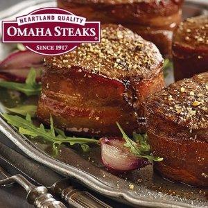 低至2.6折+指定产品包邮Omaha 牛排 新鲜烹饪牛排 牛肉大汉堡等家庭装大礼包