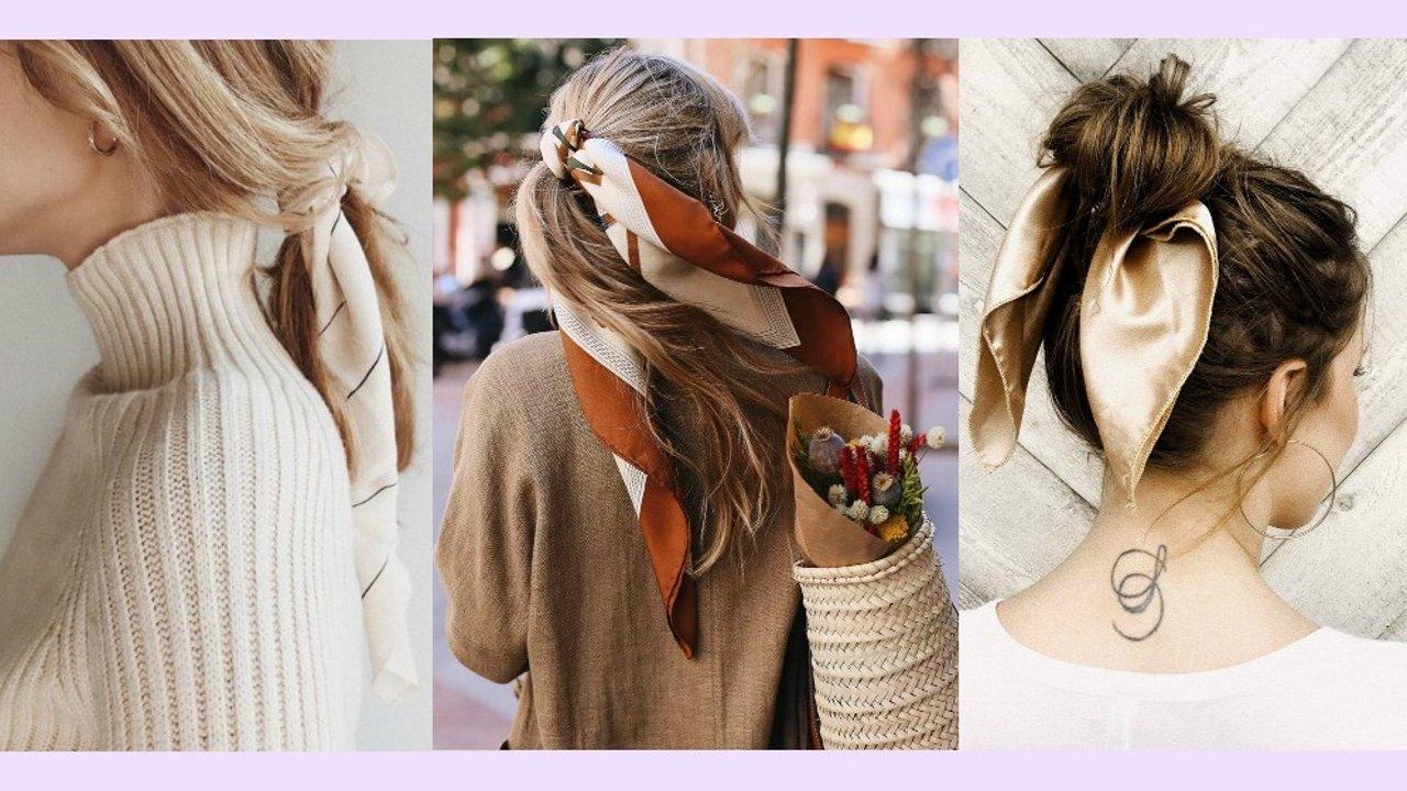 怎样扎头发方便又简单?巧用丝巾就能给头发做造型啦