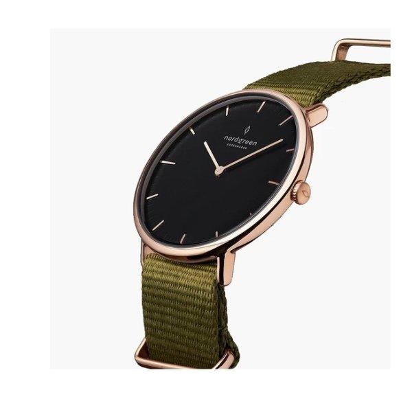 Native 橄榄绿表带男士手表