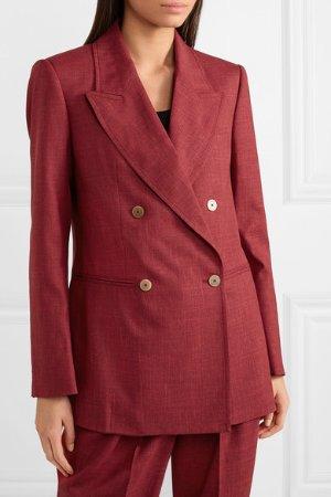 CASASOLA | Double-breasted wool, silk and linen-blend blazer | NET-A-PORTER.COM