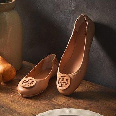 $75.99起 收Mini Miller凉鞋Gilt Tory Burch 美鞋热卖 经典气质Icon Minnie芭蕾鞋