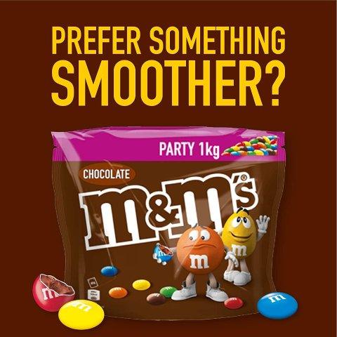 白菜价:M&M's 花生巧克力豆 1kg超大派对装