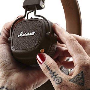 Marshall9.2折,3色可选Major III蓝牙折叠式耳机