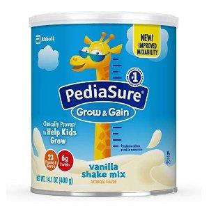 额外7折+9.5折+包邮 每罐$7.8PediaSure 雅培小安素助成长营养乳饮400克/罐*6,香草味