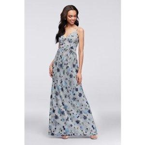 a10d07481c922 Davids BridalFloral Embroidered Tank Bridesmaid Dress | David's Bridal