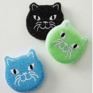 $11收3个装Simons 小猫擦洗海绵 超柔软 去污力强 厨房也要敲可爱