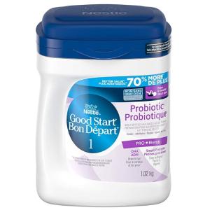 $39.87包邮 (原价$46.99)雀巢NESTLÉ GOOD START 含DHA&ARA益生菌配方奶粉(1.02公斤) 1段/2段
