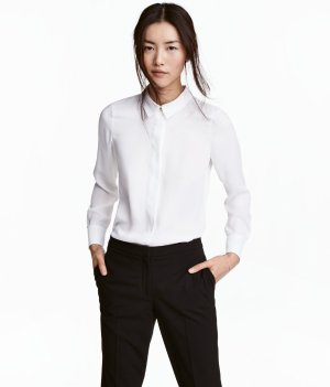 H&M基础款白衬衫