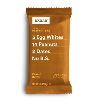 $31RXBAR Real Food Protein Bar, Peanut Butter, Gluten Free, 1.83oz Bars, 24 Count