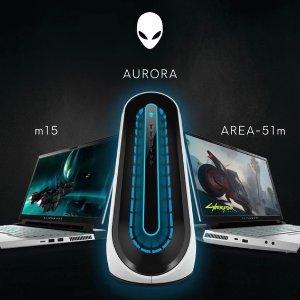 8.5折  M17/51M全都有Alienware 外星人笔记本、台式机热卖 全新Aurora上架