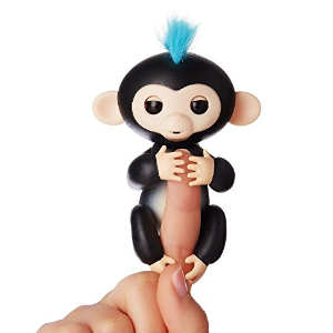 From $14.52 Fingerlings - Interactive Baby Monkey- -Zoe (Turquoise with Purple Hair)  By WowWee