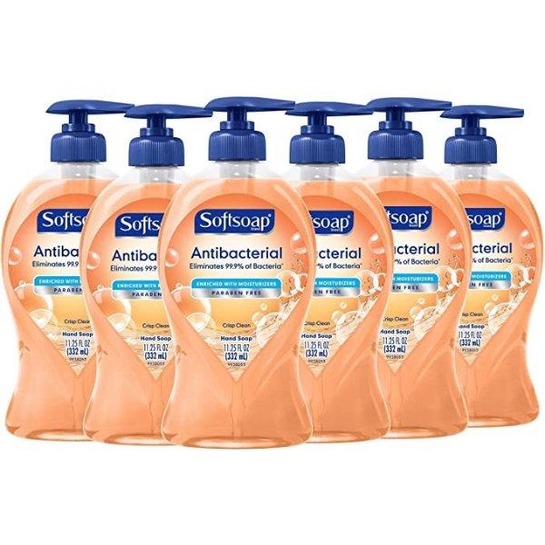 Softsoap 抗菌洗手液 11.25oz 6瓶装