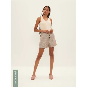Frank And OakHoundstooth Tencel™ Lyocell Shorts in Brown