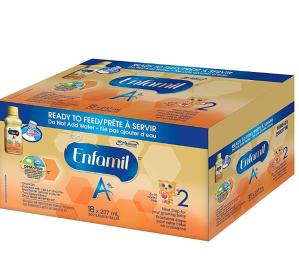 $41.74(原价$54.97)Enfamil美赞臣 A+  即开即用液体奶2段18×237ml