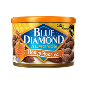 Blue Diamond Almonds 蜂蜜烤杏仁 6oz. 12罐