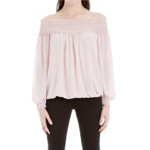 Max StudioOff-The-Shoulder Crepe Top