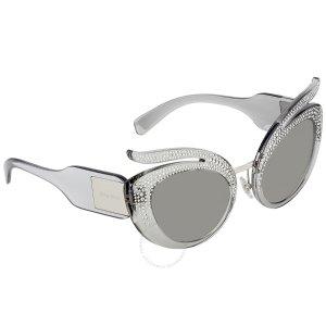 521c8c8ecc40e Miu MiuMiu Miu Cat Eye Sunglasses MU 01TS DHO4P0 36 Miu Miu Reveal Round Sunglasses  MU