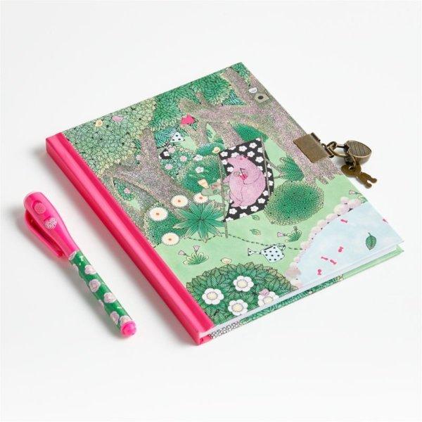 带锁日记本