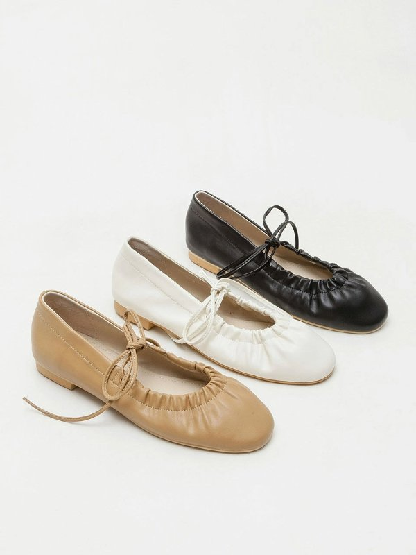 绑带平底鞋