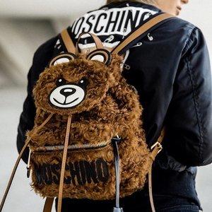 最高赠礼卡¥3500+包税直邮中国Moschino 小熊包经典手袋、斜挎包、双肩包低至5折热卖