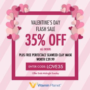 无门槛65折+送Perfectace乳液正装闪购:VitaminPlanet 情人节活动上线 健康美丽送给你