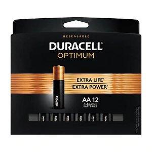 DuracellOptimum AA Batteries, Pack of 12 Item# 7698379