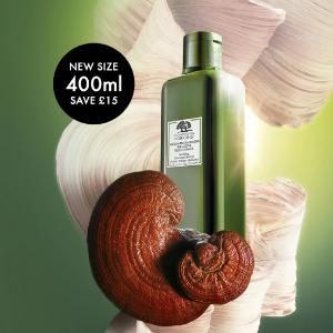 变相75折 +送五件套豪华中样礼包Origins 限定特大包装菌菇水(400ml)特惠