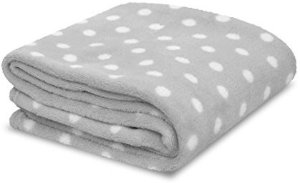 Little Starter Plush Toddler Blanket, Grey Dot @ Amazon