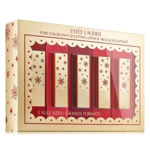 满$100减$20+免邮 刘雯同款补货:Estee Lauder 倾慕唇膏限量套装 含5支正装