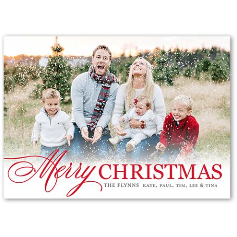 $1.3 免邮白菜价:ShutterFly 个人定制照片圣诞卡 12张